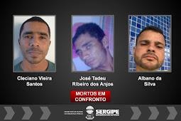 Polícias de Sergipe e São Paulo localizam em Santos/SP três integrantes de associação criminosa que vitimou o capitão Oliveira