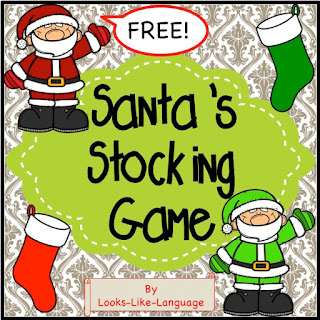 Santa needs help with his stockings! Free from Looks-Like-Language!