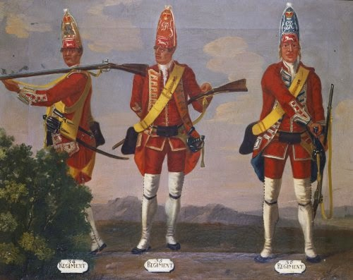 34th, 35th and 36th Regiments of Foot, Grenadiers, 1751