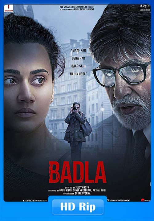 BADLA 2019 Hindi 720p HDRip ESub x264 | 480p 300MB | 100MB HEVC
