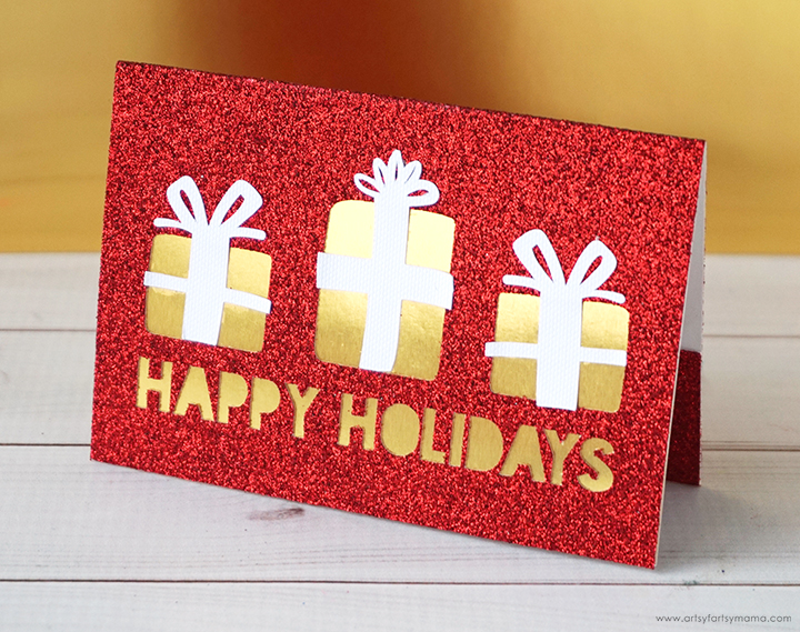 Christmas Gift Card Holder with Free Cut File