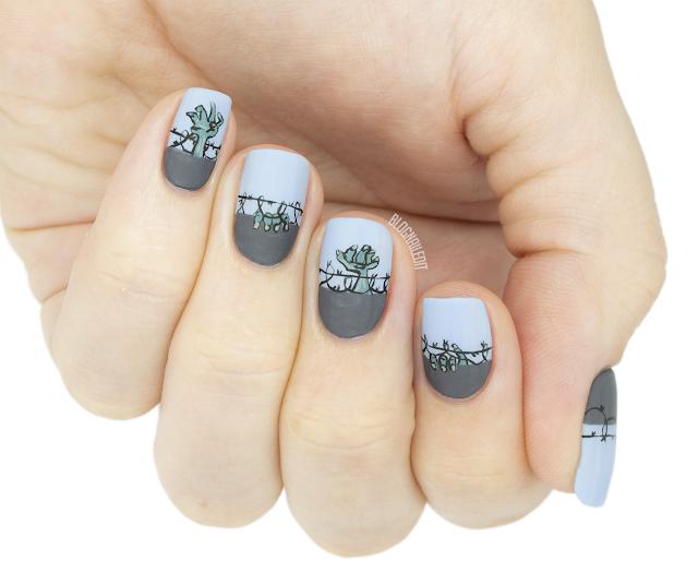 zombie hand nailart