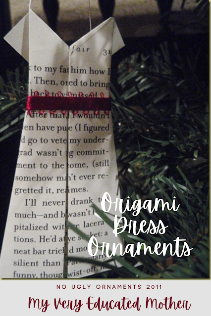 Origami Christmas Dress Ornaments