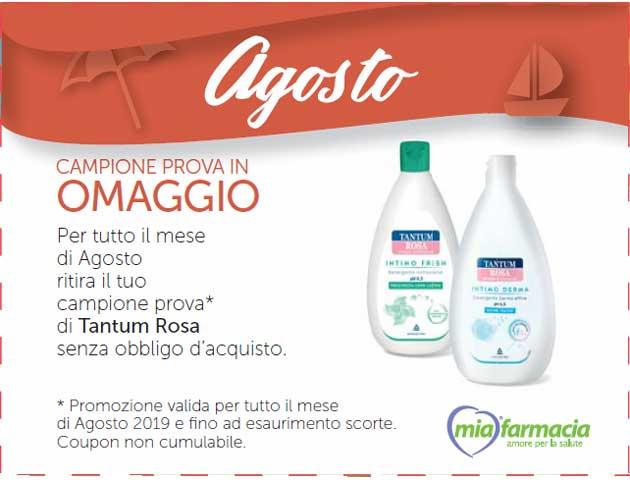 Tantum Rosa: campione gratis MiaFarmacia (Coupon Agosto 2019)