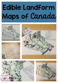 canadian geography made fun edible landform maps
