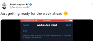 Southampton troll themselves by muting '9-0' on Twitter ahead of Leicester clash