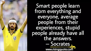 photo of Socrates and motivational quote by Socrates