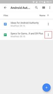 نقل الملفات عبر الجهاز في جوجل درايف