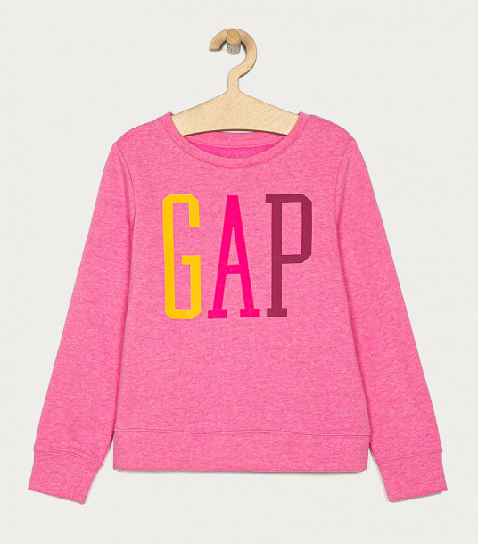 GAP - Bluza de fete roz cu logo color 104-176 cm