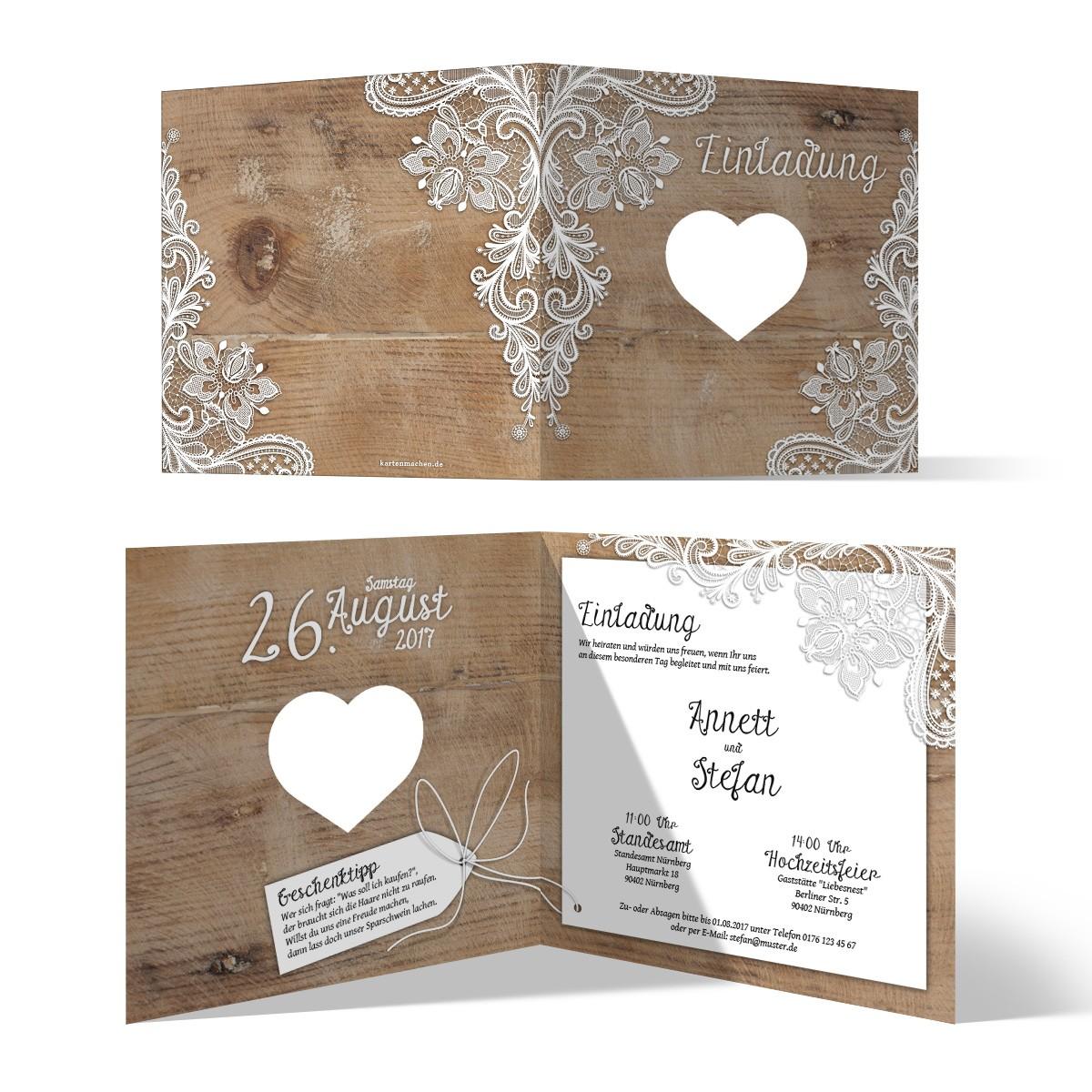 15 Einladungskarten Hochzeit Ausgefallen - Einladung Zum