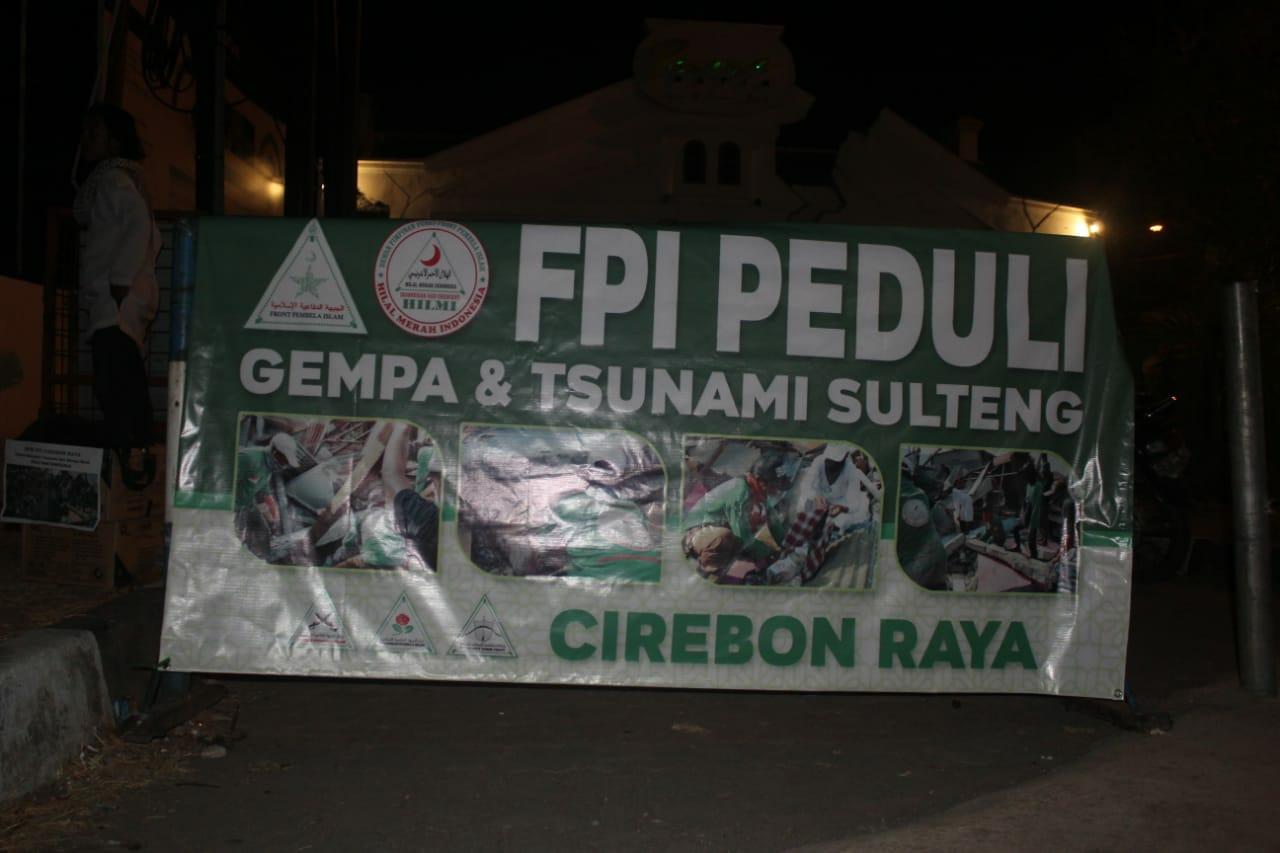 Fpi Cirebon Galang Dana Untuk Korban Gempa Sulteng Fakta Kini