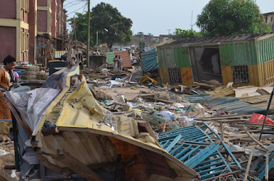 Confusion in Ejigbo as Lagos State government demolishes 2,000 shanties in Jakande Estate