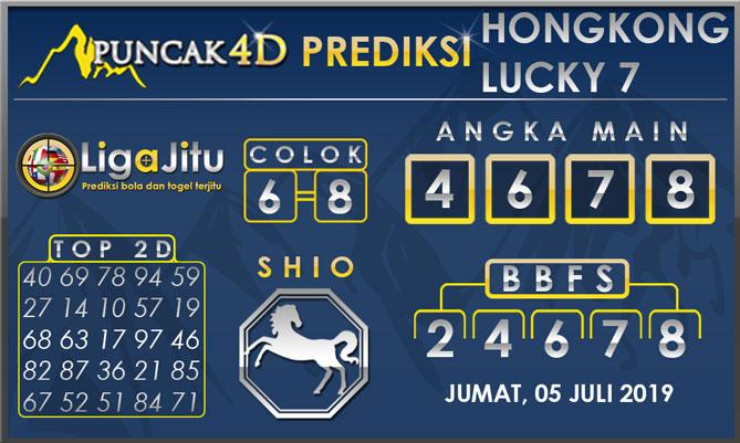 PREDIKSI TOGEL HONGKONG LUCKY7 PUNCAK4D 05 JULI 2019