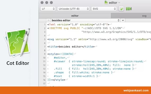 CotEditor -Free HTML Editor