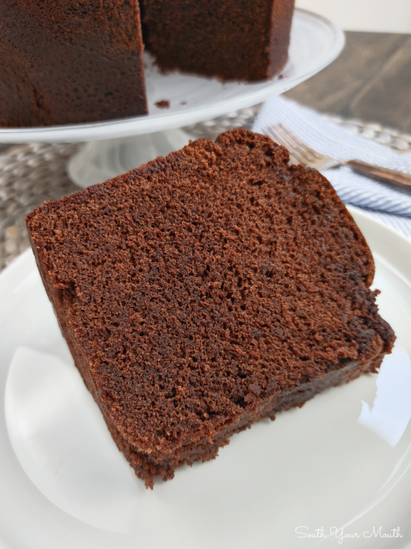 Chocolate Pound Cake - A true southern chocolate pound cake recipe that's moist and fudgy and packed with rich chocolate flavor.