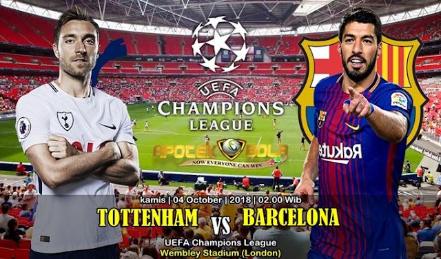 Prediksi Tottenham Hotspur vs Barcelona 4 Oktober 2018
