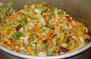 Fried rice vegetables stir fried with sweet corn