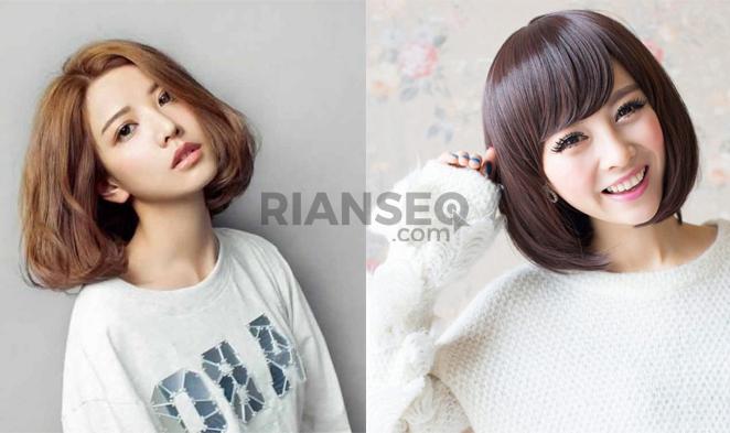 Foto Model Rambut Wanita Sebahu dan Berwarna Trend 2019
