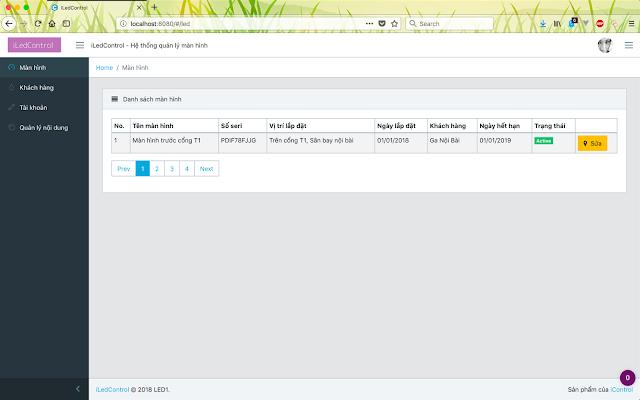 Dao diện hệ thống quản lý tập trung cho màn hình quảng cáo 3
