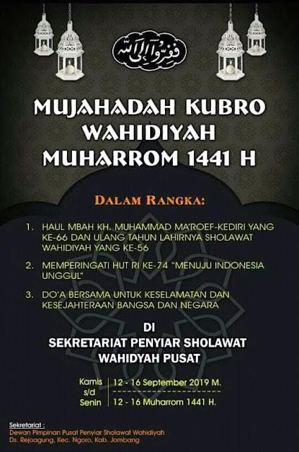 Panduan Pelaksanaan Mujahaah Kubro Wahidiyah