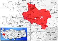 Kırkağaç ilçesinin nerede olduğunu gösteren harita