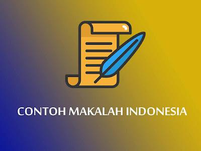 Contoh Makalah Bahasa Indonesia yang Baik dan Benar