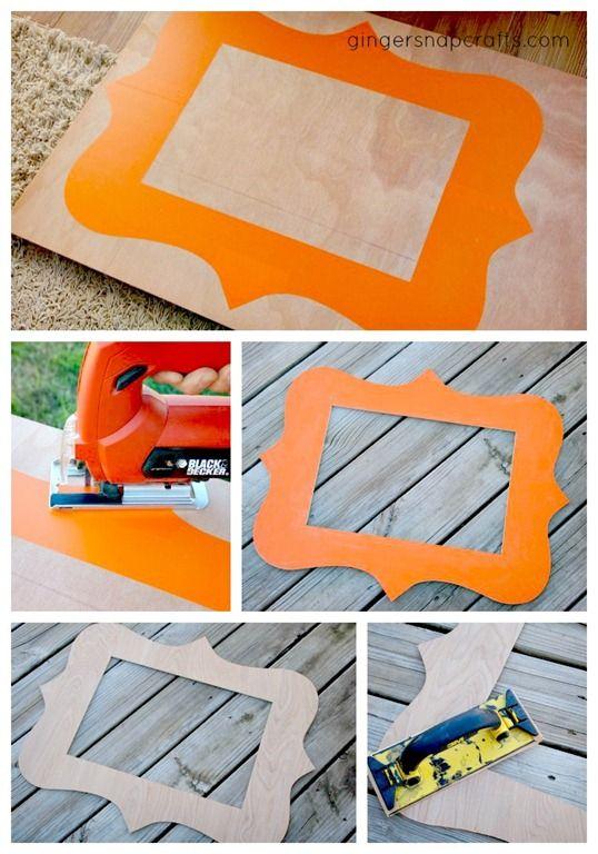กรอบรูป DIY ทำจากไม้อัด