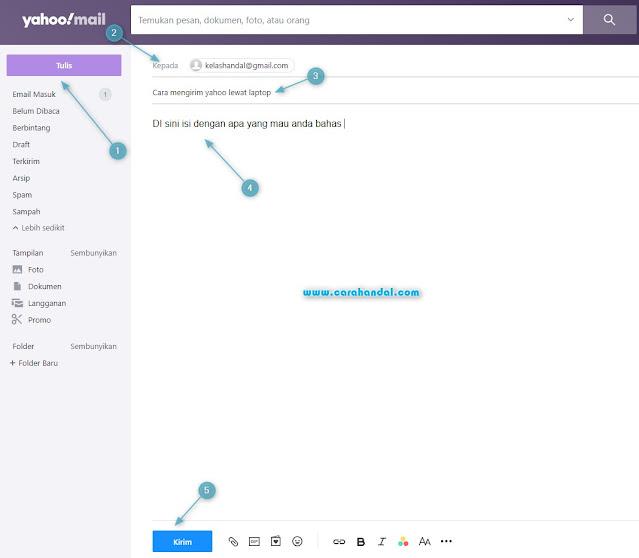 Cara Mengerim Email Yahoo Lewat Laptop