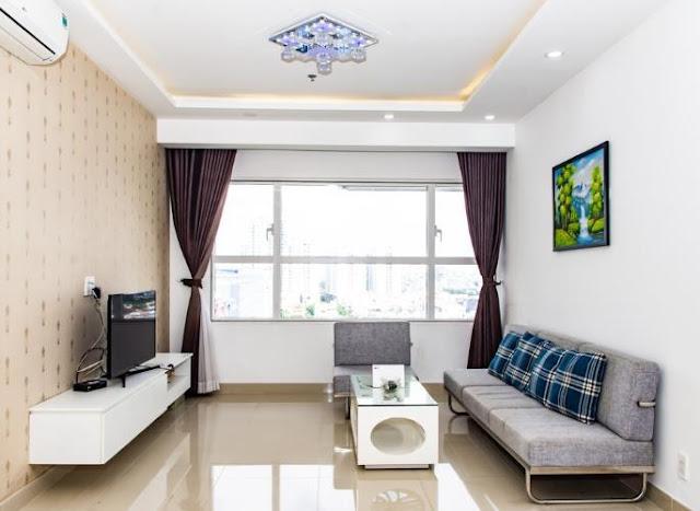 Gian phòng khách được thiết kế theo hướng mở