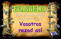 Resultado de imagen para En aquel tiempo, dijo Jesús a sus discípulos: «Cuando recéis, no uséis muchas palabras