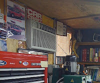 through-the-wall air conditioner in a garage