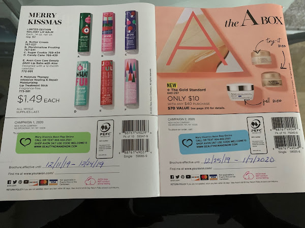 This is how I label my brochures and I use my campaign Calendar to date my Avon catalogs