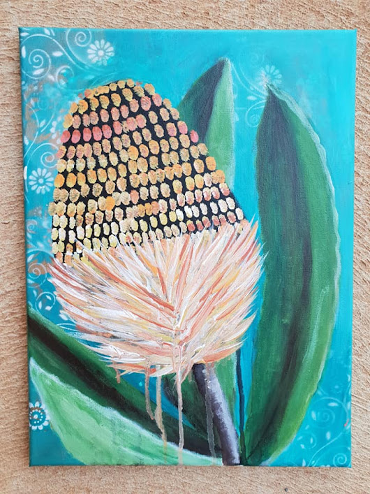 Banksia on canvas