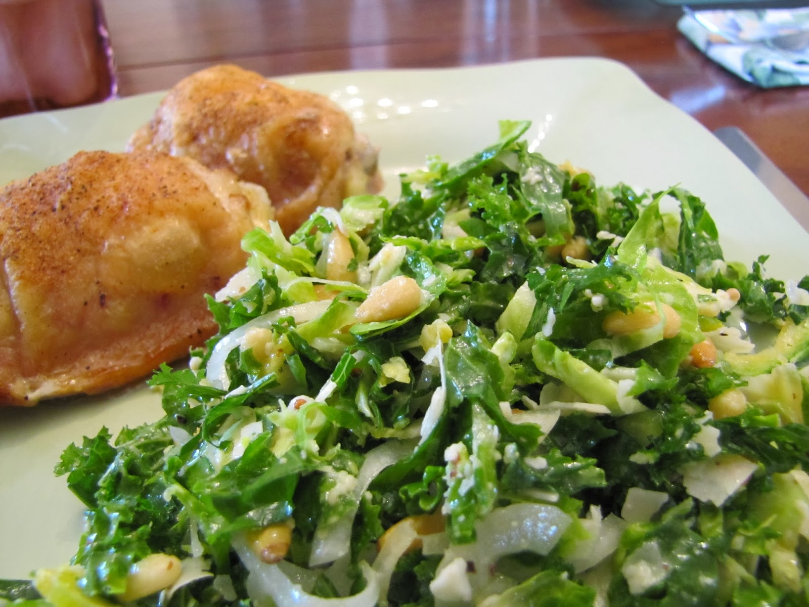 Farmhouse Rules Salad Recipes Kale And Brussels Sprout Salad Faithfulness Farm