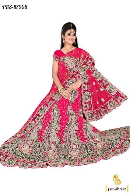 red color heavy bridle wear creape designer collection lehenga choli online shopping with great discount deal
