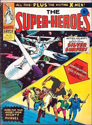 Marvel UK, the Super-Heroes #26, the Silver Surfer and Doc Savage