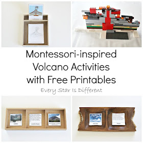 Montessori-inspired Volcano Activities with Free Printables