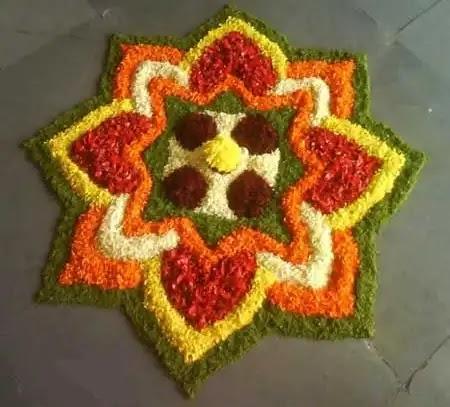 pretty flower rangoli