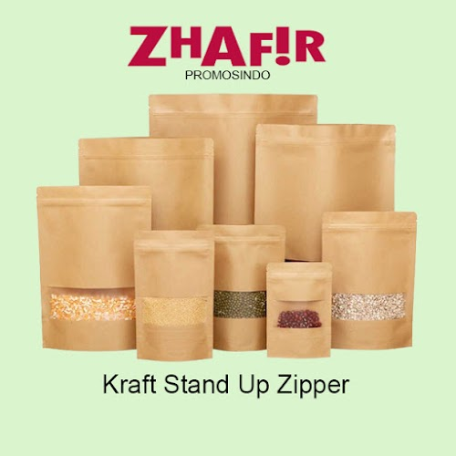 Plastik Kemasan Kraft Stand Up Zipper
