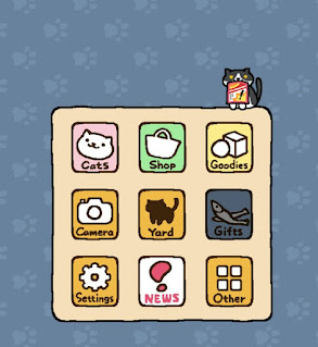 Android screenshot detailing Neko Atsume's unique (and adorable) ad system
