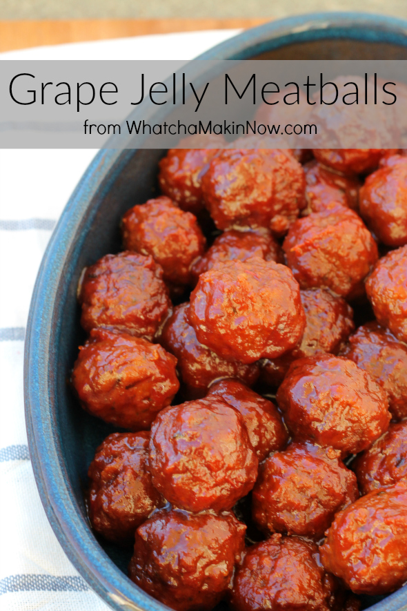 Grape Jelly Meatballs - Only 3 Ingredients!
