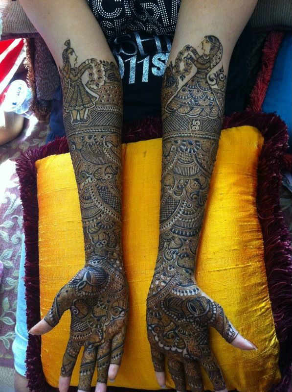 Full Leg Mehndi : Best and beautiful bridal mehndi designs for full hands