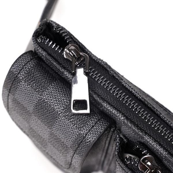 Túi đeo chéo trước ngực caro thời trang da nam phong cách BAM074