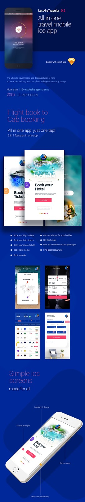 All in One Holiday Sketch UI kit