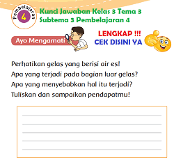 Kunci Jawaban Kelas 3 Tema 3 Subtema 3 Pembelajaran 4 www.simplenews.me