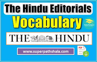 The Hindu Editorial With Vocabulary Pdf Download