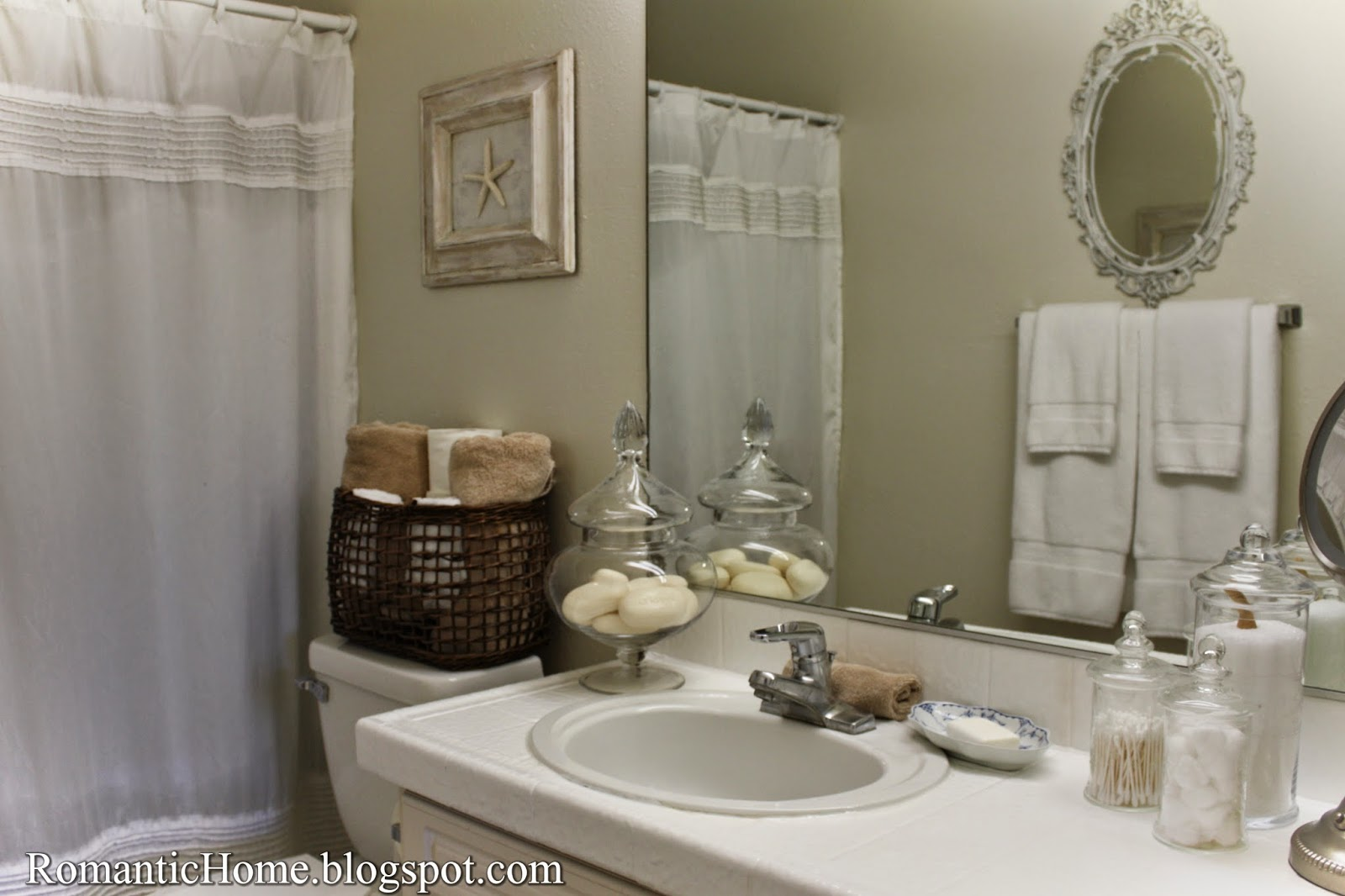 My Romantic Home: My Master Bathroom - Show and Tell Friday