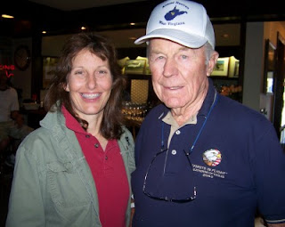 Victoria Scott D'Angelo with her late husband Chuck Yeager