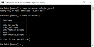 (Create, Drop) Database di CMD