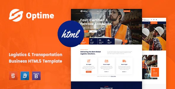 Logistics & Transportation Website Template